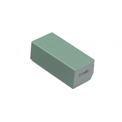 22 x 20mm PVC Rectangle Block Trim Chartwell Green