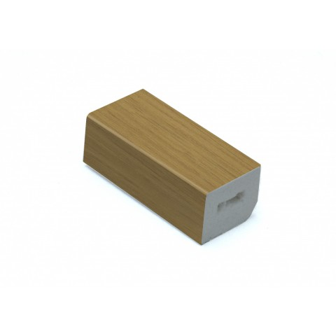 25 x 20mm Block Trim Irish Oak