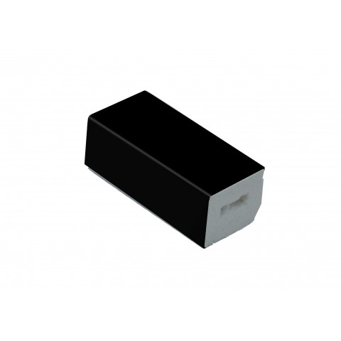 25 x 20mm Block Trim Matt Black