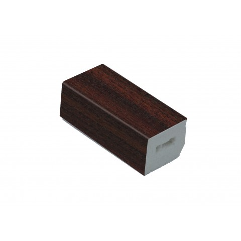 25 x 20mm Block Trim Mahogany