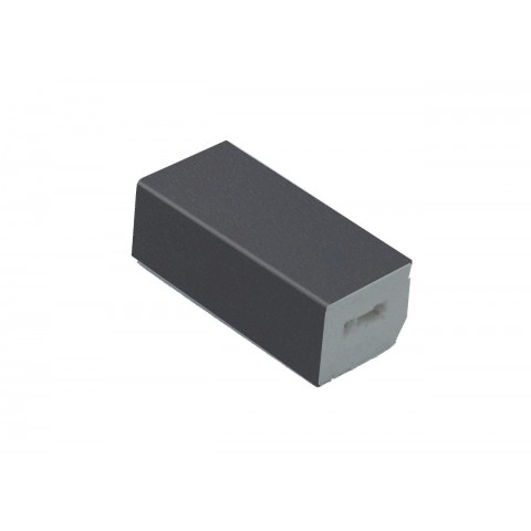 22 x 20mm Block Trim Grained Slate Grey RAL 7015