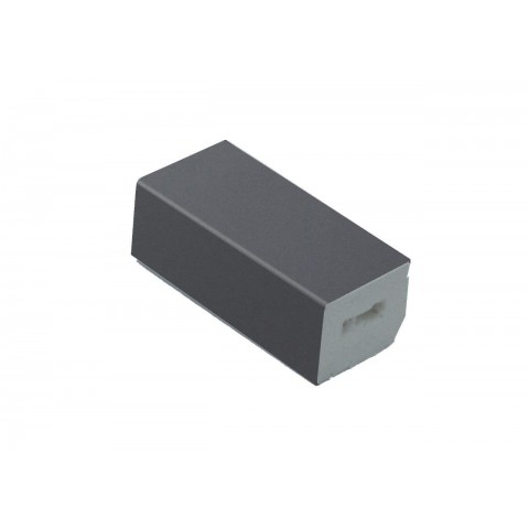 22 x 20mm Block Trim Smooth Slate Grey RAL 7015