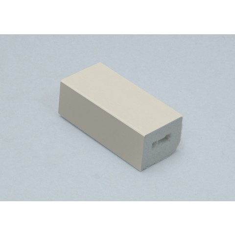 25 x 20mm PVC Rectangle Block Trim Brilliant White Ash Woodgrain