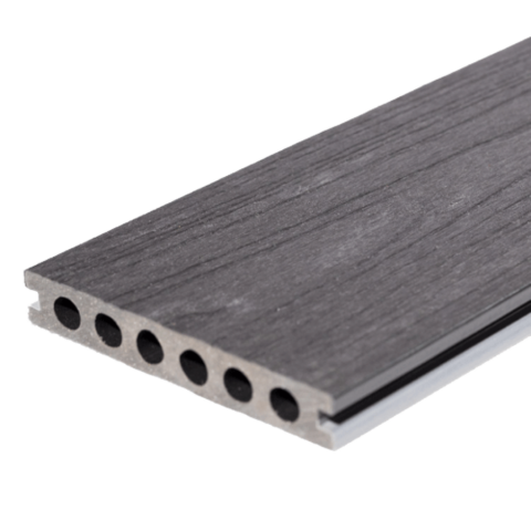 Signature Composite Deck Board 142mm x 3m Ebony/Silver Birch
