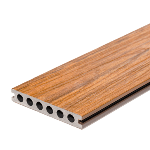 Signature Composite Deck Board 142mm x 3m Teak/Mahogany