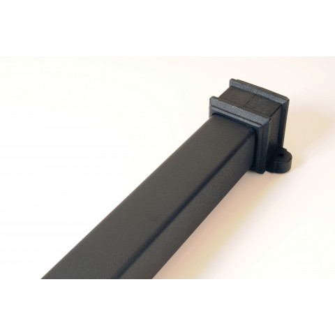 Cast Iron Style Square Downpipe 2.5m Length with fixing lugs