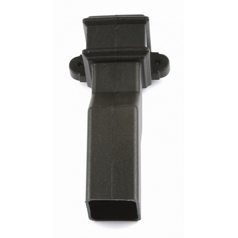 Cast Iron Style Square Downpipe 50mm Plinth Offset with Lugs