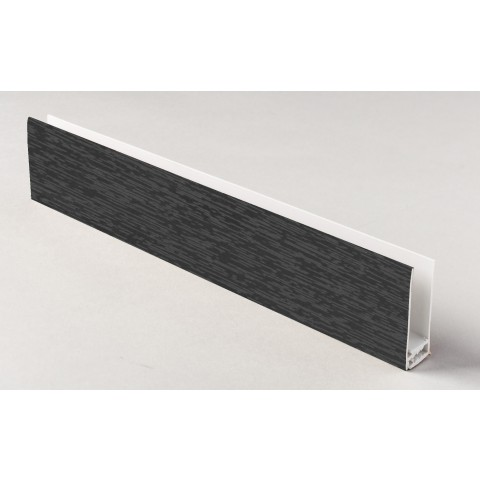 Two Part Top Trim Textured Dark Grey 5m