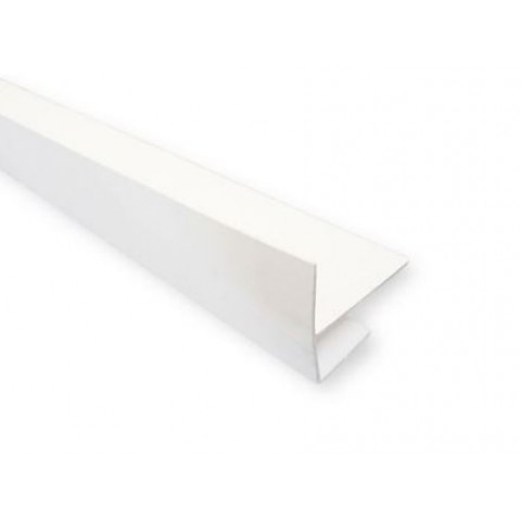 Edge Channel & Batten Cover 5M White Exterior Cladding Trim