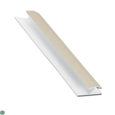 H Joint 5m Exterior Cladding Trim 1-Part Cream Woodgrain