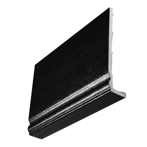 9mm Ogee Capping Board/Cover Fascia Black Ash