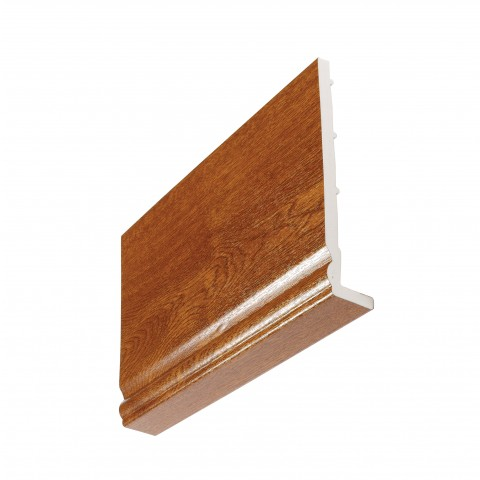 9mm Ogee Capping Board/Cover Fascia Golden Oak