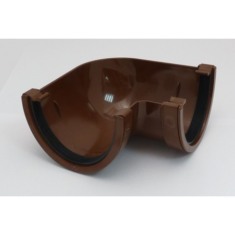114mm Deepflow Gutter 90° Angle Brown