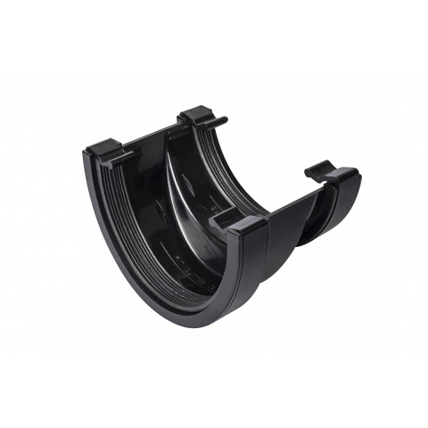 114mm Deepflow to Half Round Adaptor Gutter Union Black