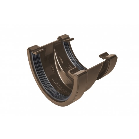 114mm Deepflow to Half Round Adaptor Gutter Union Brown