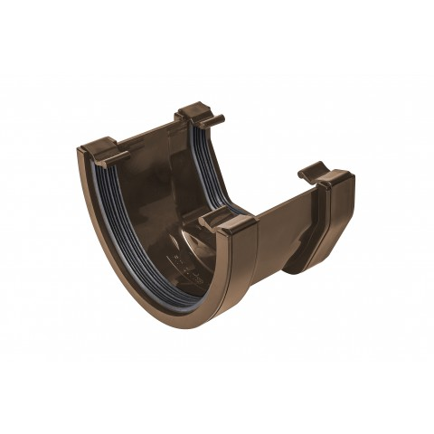 114mm Deepflow to Square Adaptor Gutter Union Brown