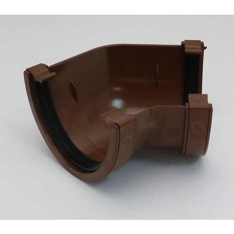 114mm Deepflow Gutter 135° Angle Brown