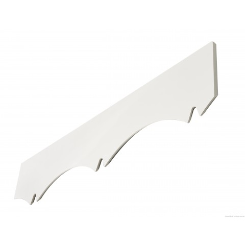 Decorative Barge Board Fascia Concave Detail White