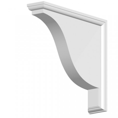 GRP Gallows Bracket White Smooth 80 x 350 x 390mm