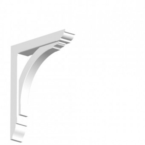 GRP Gallows Bracket White Woodgrain 7 x 49 x 40 cm