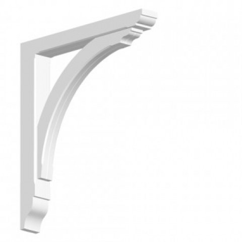GRP Gallows Bracket White Woodgrain 7 x 63 x 58 cm