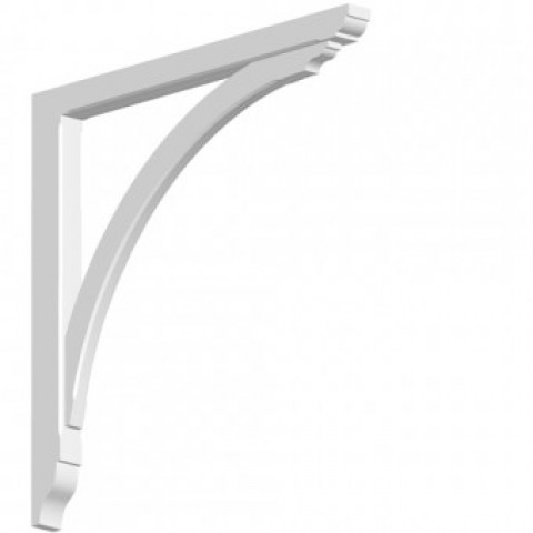 GRP Gallows Bracket White Woodgrain 5 x 74.5 x 77 cm