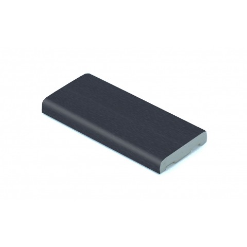 25mm x 6mm D Mould Smooth Dark Grey RAL 7016