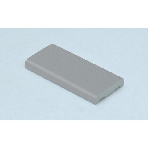 30mm D Mould Grained Light (Silver) Grey RAL 7001
