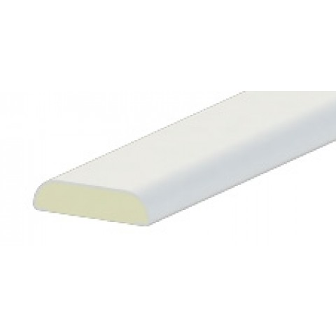 24mm x 6mm D Mould Liniar White