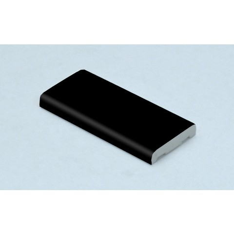 25mm x 6mm D Mould Matt Black