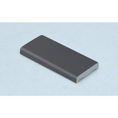 25mm x 6mm D Mould Grained Slate Grey RAL 7015