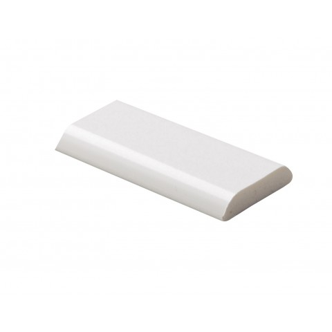 28mm x 6mm D Mould White