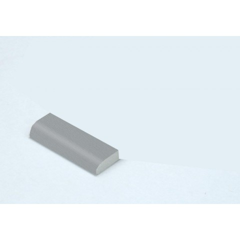 20mm Edge Fillet Grained Light (Silver) Grey RAL 7001