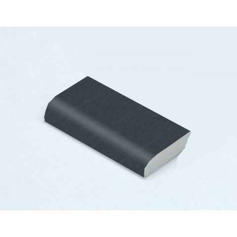 28mm x 6mm Edge Fillet Smooth Dark Grey RAL 7016