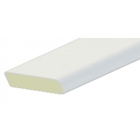 28mm x 6mm Edge Fillet Liniar White