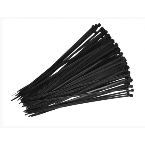 Faithfull 300mm Black Cable Ties Pack 100
