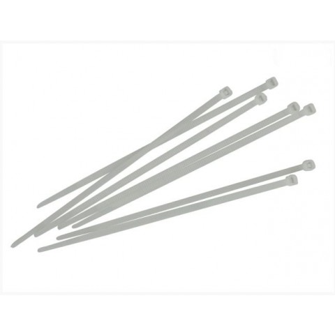 Faithfull 300mm White Cable Ties Pack 100