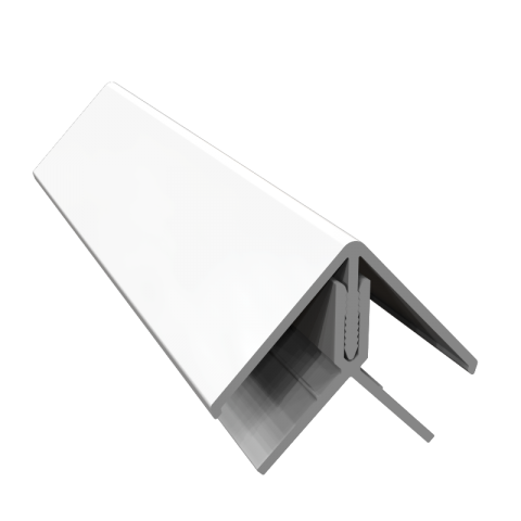 Fortex 2 Part External Corner Trim - White 3m