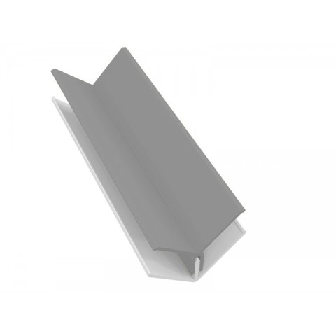 Fortex 2 Part Internal Corner Trim - Storm Grey 3m