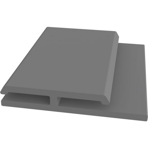 Fortex H Section Joint/Edge for Reveal Liner Slate Grey 3m