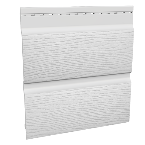 Fortex 300mm Double Shiplap Cladding - White 5m