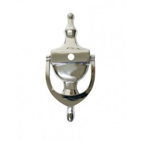 Face Fix Urn Knocker with Spyhole Chrome