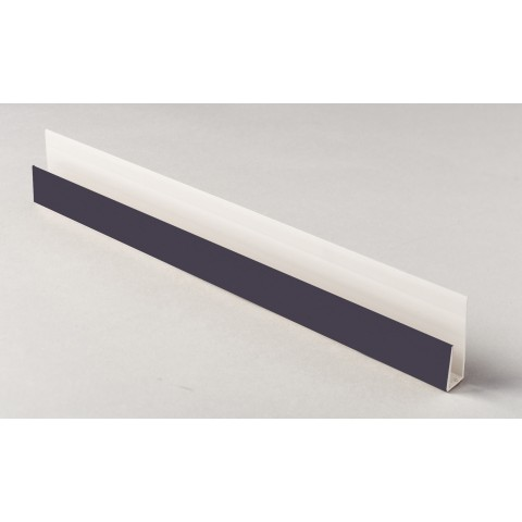 Edge Channel/Soffit Board J-Trim 5m Dark Grey Textured