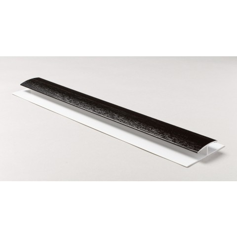 Soffit Board H Joint 1m Black Ash