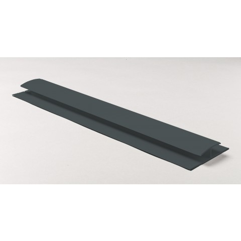 Soffit Board H Joint 5m Gloss Dark Grey