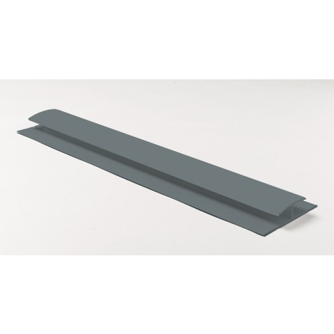 Soffit Board H Joint 5m Gloss Mid Grey