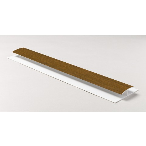 Soffit Board H Joint 1m Golden Oak