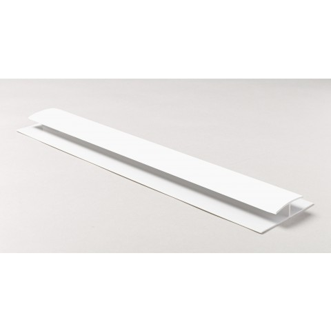 Soffit Board H Joint 1m White