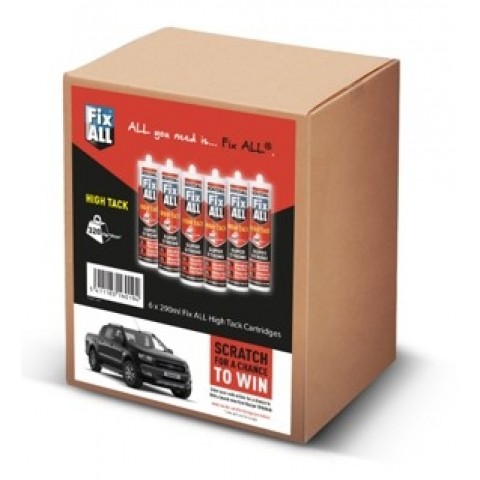 Fix All High Tack Adhesive White 6 Pk Ford Pickup Promo