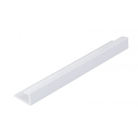 Roomliner Shower Panel End Cap Trim White 10mm x 2.4m